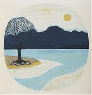 Sale 9087 - Lot 2032 - Brian Morton Hatch (1934 - ) The Passage linocut, ed. 4/10 82 x 72cm, signed -