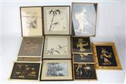 Sale 8422 - Lot 56 - Chinese Style Watercolours with Other Eastern Artworks in Box