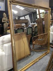Sale 8745 - Lot 1006 - Large Square Gilt Frame Mirror