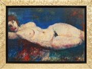 Sale 8838A - Lot 5112 - Frantisek Nedved (1919 - ) - Reclining Nude, 1991 47 x 68cm