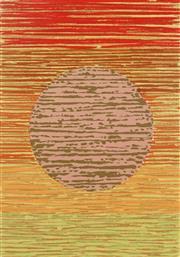 Sale 8980A - Lot 5062 - Una Foster (1912 - 1996) - Wall Hanging - Dark Sun, 1980 63 x 44 cm (frame: 83 x 63 x 3 cm)