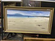 Sale 8978 - Lot 2033 - John Legget Seven Mile Beach oil on canvas board, 47 x  85 cm, signed lower right