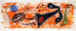 Sale 9081A - Lot 5082 - Joan Miro (1893 - 1983 ) - Untitled 33 x 81 cm (frame: 53 x 104 x 2 cm)