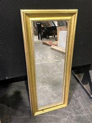 Sale 9026 - Lot 1082 - Rectangular Gilt Framed Mirror (106 x 44cm)