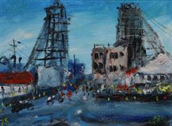 Sale 9093A - Lot 5011 - Kevin Charles (Pro) Hart (1928 - 2006) - Minescape 1975 21 x 28 cm (frame: 59 x 64 x 4 cm)