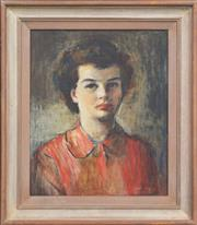 Sale 8297 - Lot 534 - Frances (Frankie) Mallalieu Payne (1885 - 1975) - Portrait Of A Young Lady 45 x 37cm