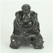 Sale 8393B - Lot 64 - Black Basalt Buddha Figure