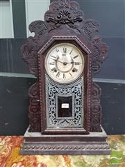 Sale 8465 - Lot 1005 - Carved Mantle Clock