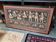 Sale 8676 - Lot 1181 - Quilt & Framed Burmese Kalaga, circa 1950 (150 x 80cm)