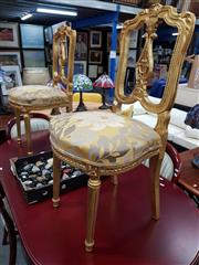 Sale 8680 - Lot 1094 - Pair of Gilt Bedroom Chairs