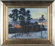 Sale 8838A - Lot 5156 - Russian School - Winter Sunset, 1996 38.5 x 48.5cm