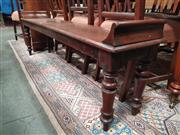 Sale 8868 - Lot 1034 - 19th Century Mahogany Long Waiting or Hall Stool, with raised ends & turned legs