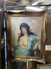 Sale 8891 - Lot 2076 - H. R. Schubert La Spagnola acrylic on canvas,  100 x 78cm (frame), signed