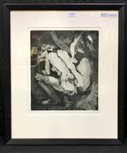 Sale 8953 - Lot 2027 - S. Pickering Nude Study 1990 aquatint ed, 5/10, 48 x 38cm (frame), signed and dated -