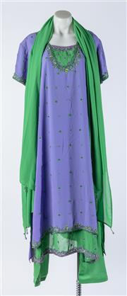 Sale 9003F - Lot 60 - A Beaded Salwar kameez with Green Pants and Scarf