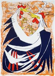 Sale 9032A - Lot 5067 - Clifton Pugh (1924 - 1990) - Fighting Cocks 62 x 89 cm (sheet)