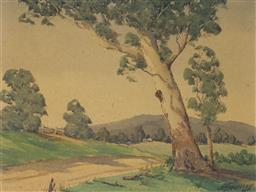 Sale 9191A - Lot 5017 - A JOSSBERRY Untitled watercolour 23 x 30 cm (frame: 39 x 46 x 2 cm) signed