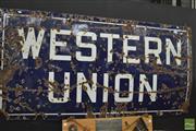 Sale 8338 - Lot 1051 - Western Union Enamel Sign (183 x 91cm)