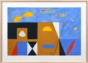Sale 8415 - Lot 538 - Peter D Cole (1947 - ) - Symbols of a Landscape #3, 1987 73 x 110cm