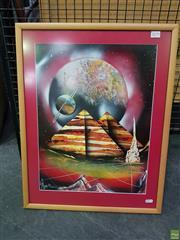 Sale 8619 - Lot 2079 - Matthew Sorenson - Spray Paint Galaxy, 48.5 x 37cm