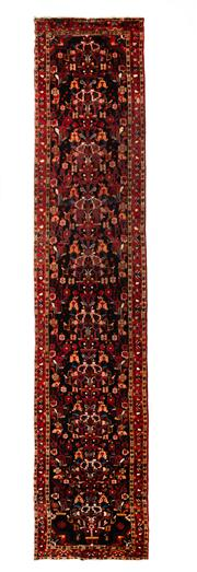 Sale 8715C - Lot 54 - A Persian Hamadan Classed As Village Rugs, Wool On Cotton Foundation, 530 x 117cm