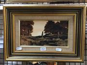 Sale 8726 - Lot 2021 - M. Taylor - The Old Fence, Acrylic, SLR, 11x21.5cm