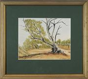 Sale 8752 - Lot 2011 - Maxwell Parry (Max) Price (1929 - 1998) - Old Warrior, Capertee Valley 19 x 25cm