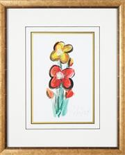 Sale 8755A - Lot 5035 - Kevin Charles (Pro) Hart (1928 - 2006) - Flower Study 29 x 21cm