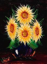 Sale 8892 - Lot 549 - Dean Vella (1958 - ) - Moonlit Sunflowers 39 x 29 cm
