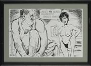 Sale 8822A - Lot 5038 - Geoff Pryor - The Health Certificate (for ACT Brothel Laws) 23.5 x 36cm