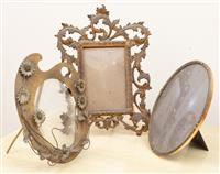 Sale 8963H - Lot 20 - An Italian gilt brass photo frame together with an artists easel shaped frame largest Height 29cm