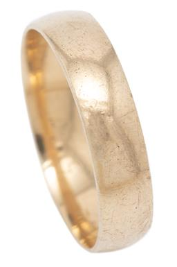 Sale 9246J - Lot 369 - A 9CT GOLD BAND; slightly rounded 4.8mm wide band of plain form, size S, wt. 3.35g.