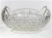 Sale 8444A - Lot 36 - A good quality cut lead crystal table centrepiece, W 50cm