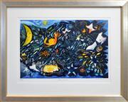 Sale 8325 - Lot 515 - Charles Blackman (1928 - ) - Garden of the Stars 53.5 x 80cm