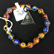 Sale 8402D - Lot 94 - Murano Millefiori Art Glass Bracelet (Length - 20cm)