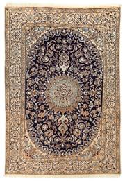 Sale 8780C - Lot 264 - A Persian Nain 100% Wool Pile And Silk Inlaid With Medallion, 287 x 200cm