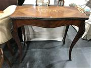 Sale 8805 - Lot 1080 - Louis XV Style Marquetry Card Table