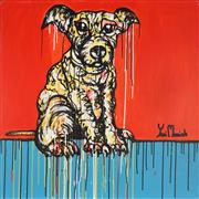 Sale 8880A - Lot 5077 - Yosi Messiah (1964 - ) - Looking Out Baby Dog 102 x 102 cm