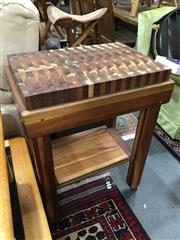 Sale 8851 - Lot 1088 - Kitchen Elevated Chopping Block