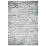 Sale 8912C - Lot 9 - Turkish Woven Vintage Carpet Collection 01, Silver/Blue, 160x230cm, Viscose/Acrylic