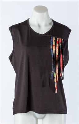 Sale 9003F - Lot 68 - A Maiocchi Tank Top with colourful stripes fashioned to one side, size 16