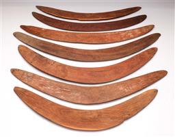Sale 9122 - Lot 66 - A Group Of Aboriginal Boomerangs (7) (Longest L: 72cm)