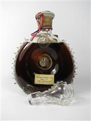 Sale 8411 - Lot 602 - 1x Remy Martin Very Old, Age Unknown Grande Champagne Cognac - Baccarat Crystal decanter (marked 117 to base) with stopper, in ori...