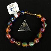 Sale 8402D - Lot 95 - Murano Millefiori Art Glass Bracelet (Length - 20cm)