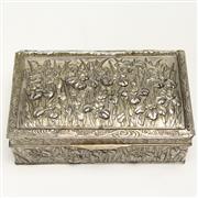 Sale 8412A - Lot 48 - Silver Plate Lided Box width - 23cm