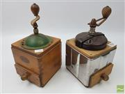 Sale 8439F - Lot 1858 - Two Vintage Coffee Grinders, Marked Odax - Made in France