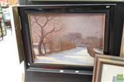 Sale 8468 - Lot 2027 - Ernö Marko (1868 - 1945) - European Winter Scene 47 x 64cm