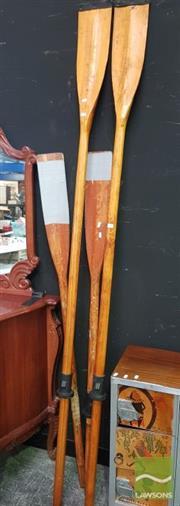 Sale 8495F - Lot 1010 - Timber Oars x 4