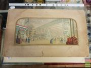 Sale 8552 - Lot 2066 - 2 Hand Coloured Lithographs: The Great Exhibition & The Conversion, 15.5 x 33cm; 29 x 40cm