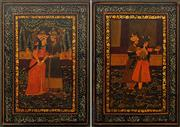 Sale 8613 - Lot 2013 - Indo-Persian School (2 works) - Courtship Scenes 25.5 x 18cm, each